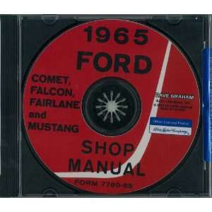 1965 FORD FALCON MUSTANG FAIRLANE COMET Service Manual CD