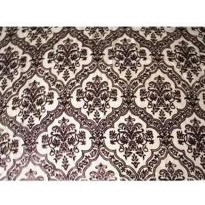 yards dramatic leaf damask velvet upholstery fabric