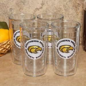 NCAA Tervis Tumbler Southern Miss Golden Eagles 4 Pack