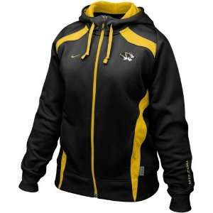 Nike Missouri Tigers Ladies Black Power Full Zip Performance