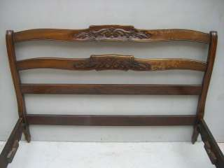 Great antique French country walnut full bed # as/1231