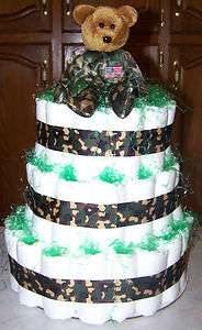 Military Diaper Cake Excellent Baby Shower Gift