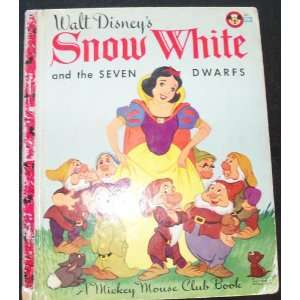 White and the Seven Dwarfs Mickey Mouse Club Book Walt Disney Books