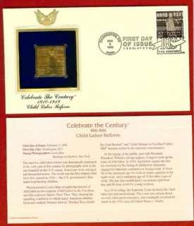 Celebrate The Century CHILD LABOR REFORM 22K Gold Stamp