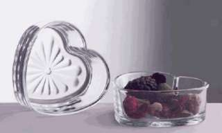 Heart Shaped Glass Bowl Libbey Valentines Day Wedding