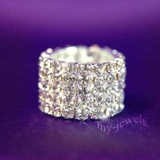 Row Bling Bridal Fashion Crystal Rhinestone Ring R903
