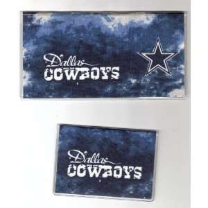 Checkbook Cover Debit Set NFL Dallas Cowboys Tie Dye