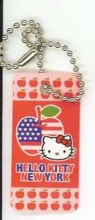 Sanrio Hello Kitty Keychain New York American Apple