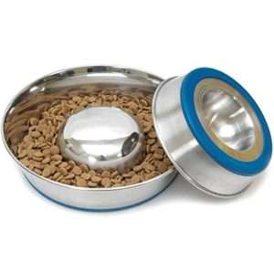 DuraPet Stainless Steel Slow Feed Bowl   Dog
