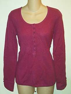 NWT $128 Sutton Studio 100% Cashmere Henley Sweater