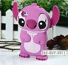 Pink 86Hero Disney 3D Stitch Movable Ear Flip Hard Case Cover for