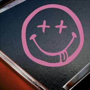 Nirvana Stoned Face Pink Decal Car Truck Window Pink