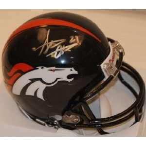 Steve Atwater Hand Signed Mini Helmet