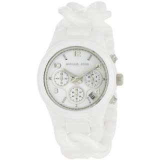 Michael Kors Womens MK5387 Ceramic Classic Chronograph White Watch
