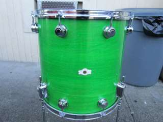 Camco Drum Set LA Badge Moss Green 13,14,16,22 RARE