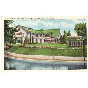 Residence of Silent Film Star Mary Pickford Beverly Hills California