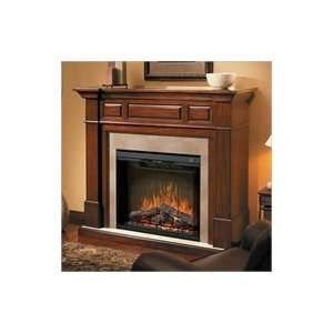 Dimplex Newport Electric Fireplace   Walnut and Marble