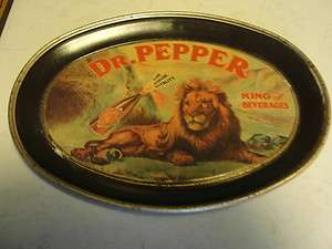 ANTIQUE DR.PEPPER,KING OF BEVERAGES TIP ADVERTISING VINTAGE SERVING