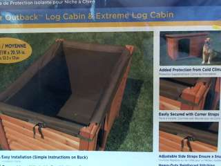 New Precision Pet Log Cabin Style Dog House Insulation Kit Medium