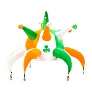 St Patricks Day Irish Flag Jester Headpiece Toys & Games