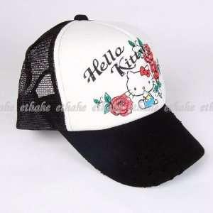 Hello Kitty Mesh Baseball Hat Trucker Cap Black Toys & Games
