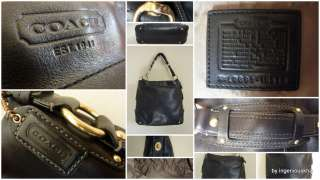 COACH Black Leather Carly Extra Large Hobo Bag 10616