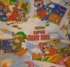 Vtg 1988 Nintendo SUPER MARIO BROS LEGEND OF ZELDA twin flat bed