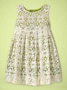New Gap Baby Girl Villa Centinale Lace Dress 12 18 18 24 NWT