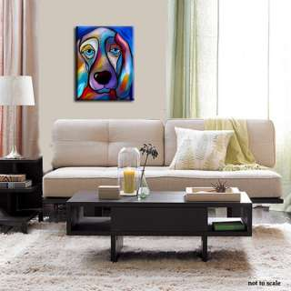 Large Abstract Contemporary Modern Art DOG Painting 28