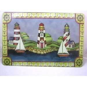 Tempered Glass Cutting Board 18 x 12 3 Lighthouses