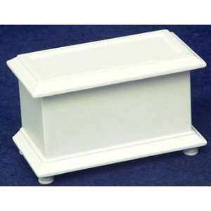 Dollhouse Miniature White Blanket Chest