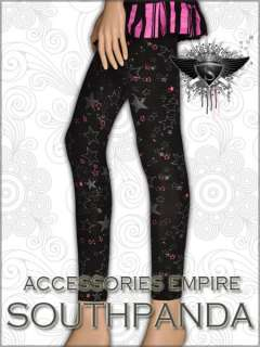 SL244 Punk Rock Star Pattern Tights Pants Leggings