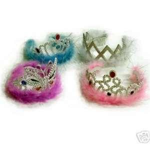 Princess birthday party favor feather tiaras wholesale