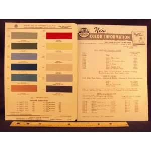 1960 CHEVROLET & Corvair Paint Colors Chip Page General