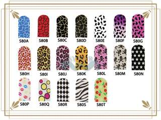Pre Design Nail Art Armour Foil Wraps Stickers