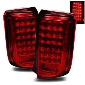 08 09 Scion xB Red LED Tail Lights Automotive