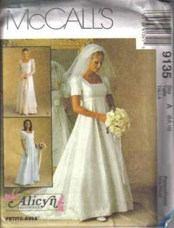 OOP Bridal Wedding Gown Bridesmaid Dress Misses Size McCalls Sewing