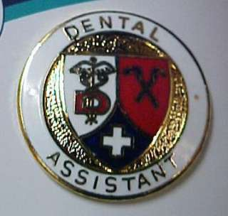 Dental Assistant Lapel Pin with Safety Catch Cross New