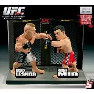 Action Figure 2Pack Brock Lesnar Vs. Frank Mir UFC 100 Toys & Games