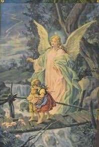 GUARDIAN ANGEL FAITH BANNER Christian Religious Flag