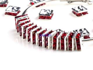 Basketball wives Earring Crystal Rhinestone Square Spacer Beads