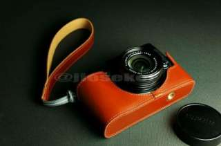 COW leather case bag cover for FUJI FUJIFILM X10 Camera 2 parts