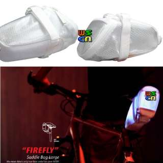 Bike Bicycle Outdoor Saddle Seat Bag Pouch Firefly White