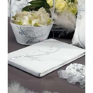 Love Bird Guest Book   Wedding   White
