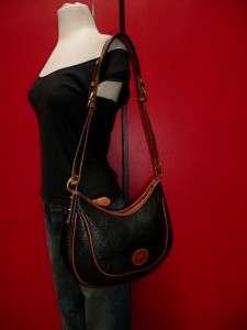 Vintage Dooney & Bourke Larger NAVY Blue Leather Hobo Tote Purse Bag