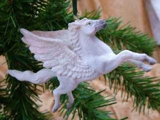 New Pegasus Horse White Christmas Tree Ornament
