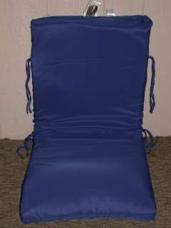 Outdoor Patio Chair Cushion Royal Blue Solid NEW