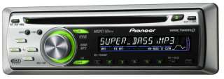 Pioneer DEH P3800MP car stereo AM FM XM Sirius CD MP3 CD R IPOD AUX