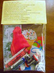 Birthday Survival Kit * 11 items inside   Novelty gift