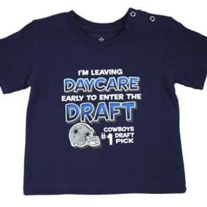 Infant Dallas Cowboys #1 Draft Pick Daycare TShirt Sports